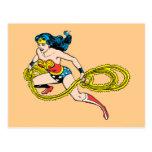 Lazo de balanceo de la Mujer Maravilla dejado Tarjeta Postal