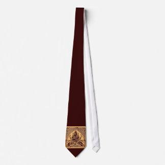 Lazo de Brown de la arena de la hoja floral del vi Corbata Personalizada