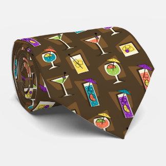 Lazo de Brown del cóctel de los años 50 de la hora Corbata Personalizada