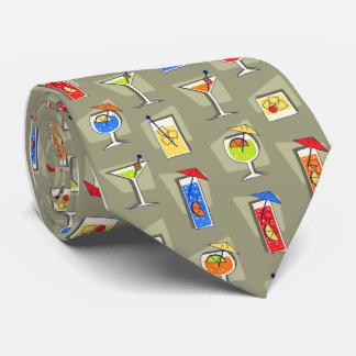 Lazo de color caqui del cóctel de los años 50 de corbata