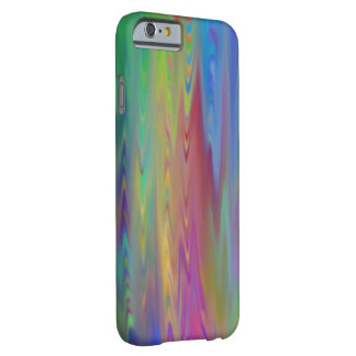Lazo de cristal viejo actualizado del arco iris funda de iPhone 6 barely there