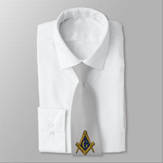 LAZO DE ENCARGO de los ALBAÑILES (plata) Corbata