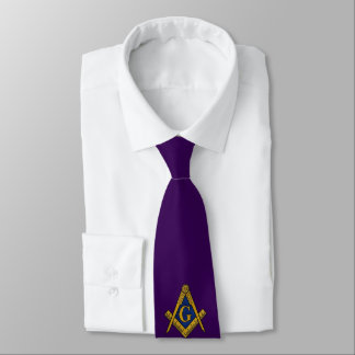 LAZO DE ENCARGO de los ALBAÑILES (púrpura) Corbatas Personalizadas