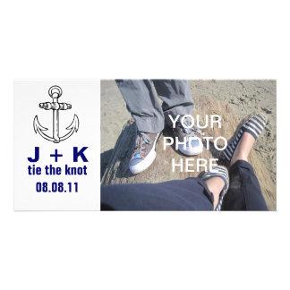 Lazo de encargo el nudo tarjetas con fotos personalizadas