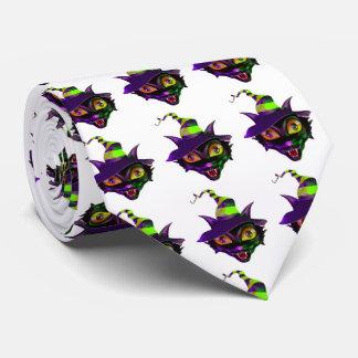 Lazo de Halloween/gato fantasmagórico Corbatas Personalizadas