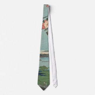 """Lazo de Hiroshige - """"en el río de Sumida """" Corbata Personalizada"""