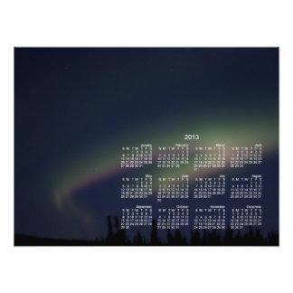 Lazo de la aurora boreal Calendario 2013 Fotografía