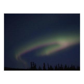 Lazo de la aurora boreal arte fotografico