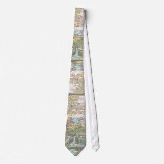 Lazo de la cascada de Nouveau Tiffany del arte Corbata Personalizada