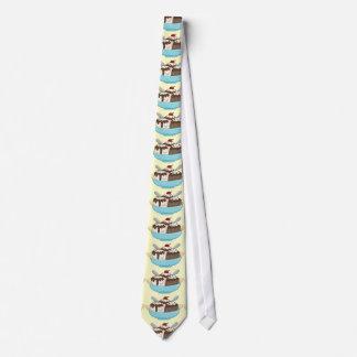 Lazo de la fractura de plátano del helado corbatas personalizadas