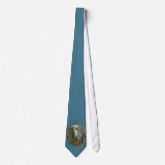 Lazo de la garza de gran azul corbatas