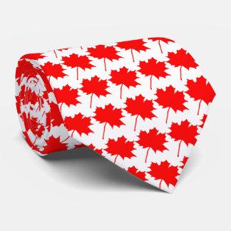 Lazo de la hoja de arce de la bandera del 🇨🇦 de corbata personalizada