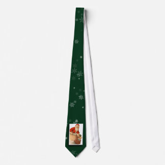 Lazo de la imagen de Papá Noel del vintage Corbata Personalizada