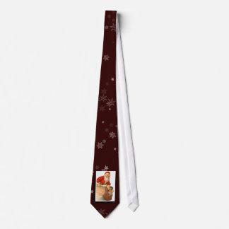 Lazo de la imagen de Papá Noel del vintage Corbatas