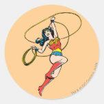 Lazo de la Mujer Maravilla de la verdad Pegatina Redonda