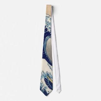 Lazo de la onda de Hokusai Corbatas Personalizadas