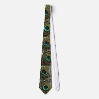 Lazo de la pluma del pavo real corbata
