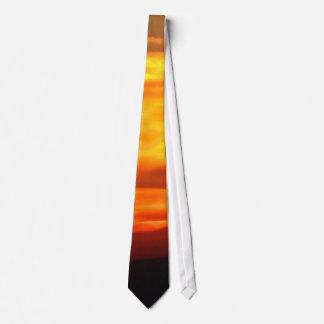 Lazo de la puesta del sol corbata personalizada