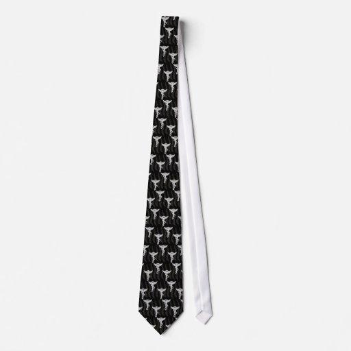 Lazo de la quiropráctica corbatas personalizadas