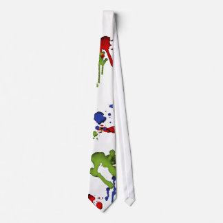 Lazo de la salpicadura de la pintura del friki del corbata
