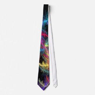 lazo de la tormenta del relámpago del fractal corbata personalizada