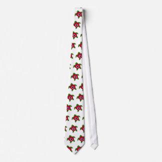 Lazo de la tortuga de mar de la flor de la anémona corbata personalizada