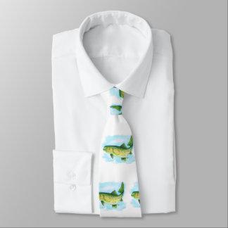 Lazo de la trucha de la acuarela corbatas