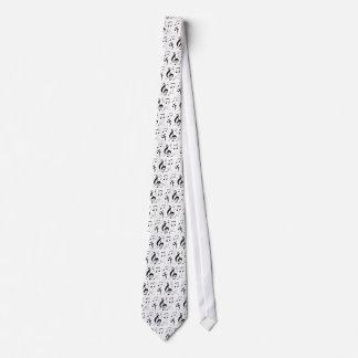 Lazo de las notas de la música que bombea corbatas personalizadas