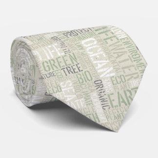 Lazo de las palabras de la ecología corbata