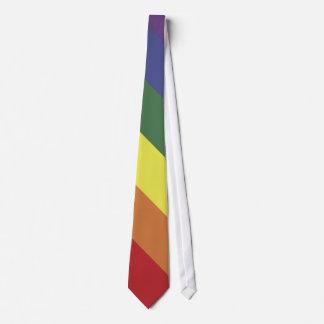 Lazo de las rayas del color del orgullo de la corbata personalizada