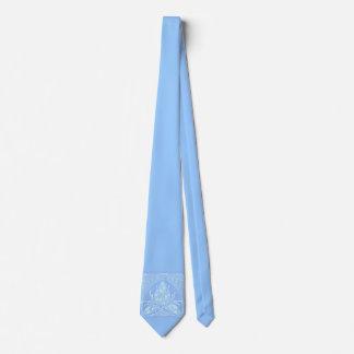 Lazo de los azules claros de la hoja floral del corbatas personalizadas