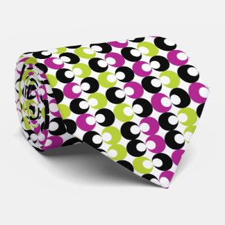 Lazo de los círculos del recorte corbata personalizada