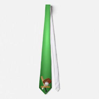 Lazo de los deportes - fondo verde del diseño #5 corbatas