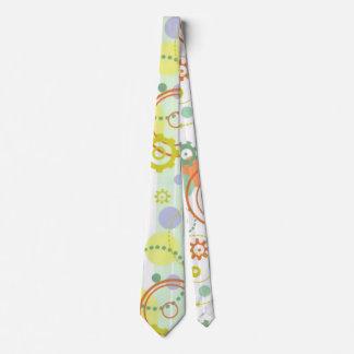 Lazo de los engranajes y de los círculos de la corbata personalizada