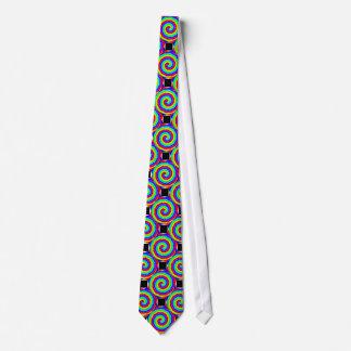 Lazo de los espirales del arco iris corbata personalizada