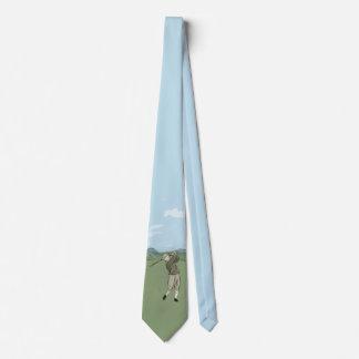 Lazo de los golfistas del arte del golf del estilo corbatas personalizadas