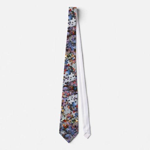 Lazo de los pedazos del rompecabezas corbata personalizada