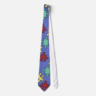 Lazo de los pedazos del rompecabezas de la corbatas