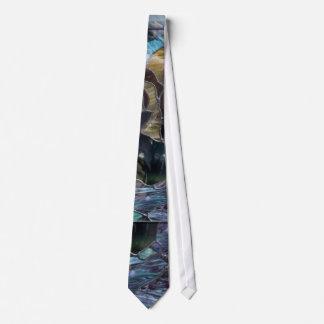 Lazo de los pescados del vitral corbatas personalizadas