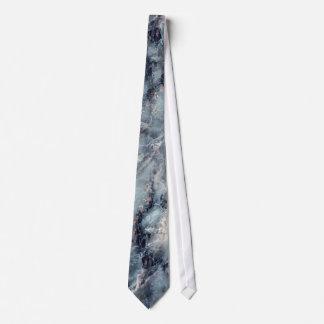 Lazo de mármol azul ahumado 2 corbata personalizada