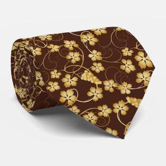 Lazo de oro del modelo de la vid corbata