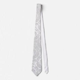 Lazo de plata del navidad del día de fiesta del corbatas