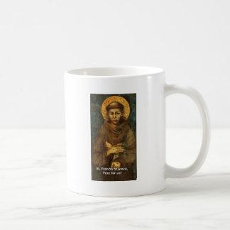 Lazo de St Francis, gorra, taza, pegatina para el Taza De Café