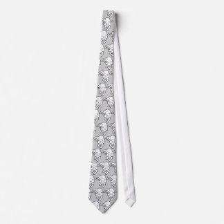 Lazo dejado de la mentira de los perros el dormir corbata personalizada