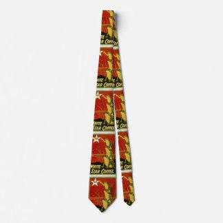 Lazo del anuncio del café de la rana del vintage corbatas personalizadas