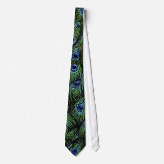 Lazo del boda de los hombres del pavo real del corbata