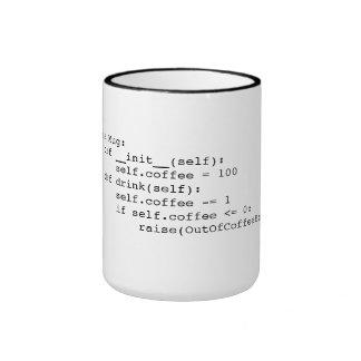 Lazo del café taza de dos colores