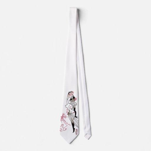 lazo del chica de hula del zombi corbatas personalizadas