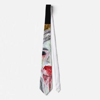 Lazo del chica del zombi corbata personalizada