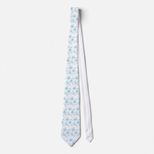 lazo del copo de nieve corbata personalizada